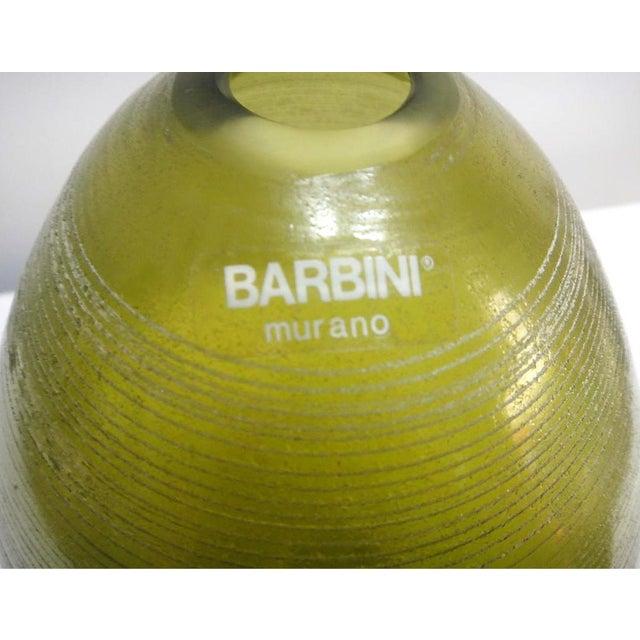 Alfredo Barbini Barbini Murano Glass Vase For Sale - Image 4 of 8