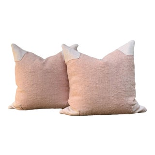 Contemporary Blush Pink Pillows - a Pair For Sale