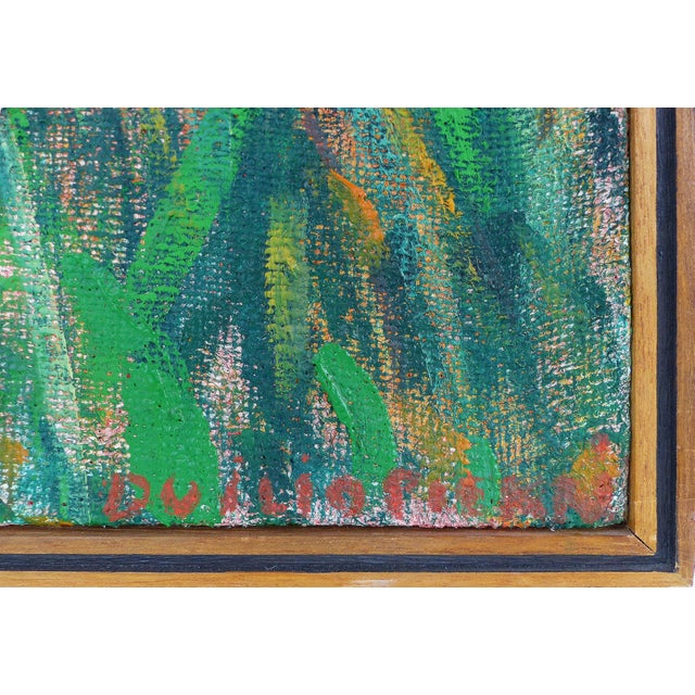 Late 20th Century Landscape Oil on Canvas by Duilio Pierri For Sale In Miami - Image 6 of 8