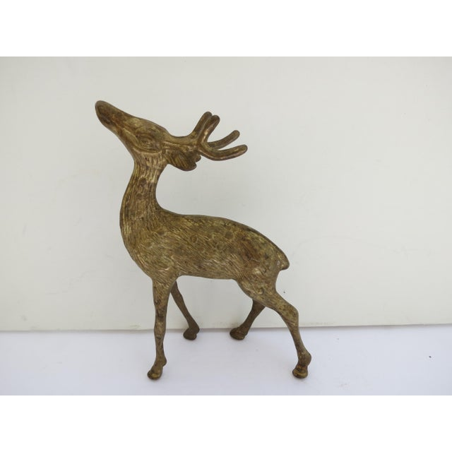 Decorative vintage brass deer. No maker's mark.