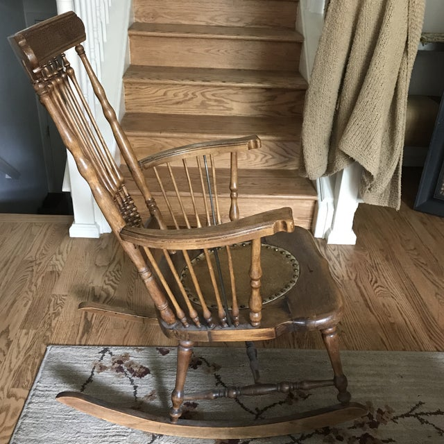 Early 20th Century Antique Rustic Rocking Chair For Sale - Image 5 of 6