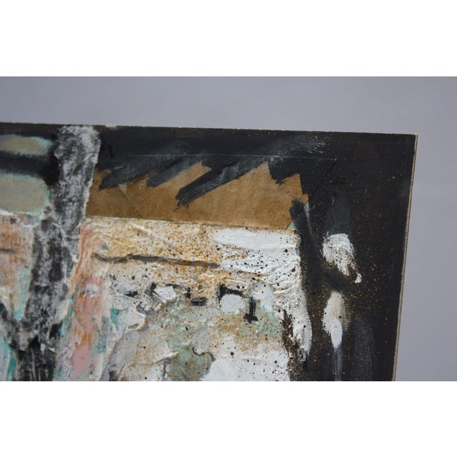 Paper Ralph De Burgos Mixed-Media Abstract Collage For Sale - Image 7 of 12
