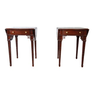 Pair of Mahogany End Tables by Maitland Smith