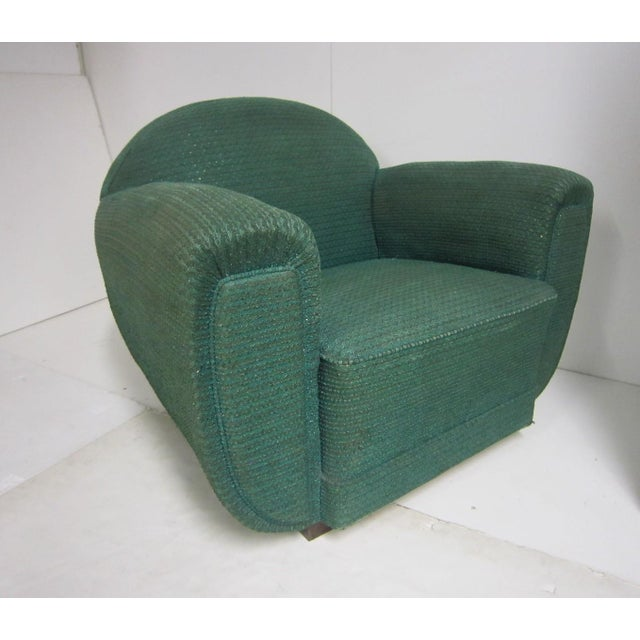 1930s French Art Deco Upholstered Club Chairs-a Pair For Sale - Image 9 of 13