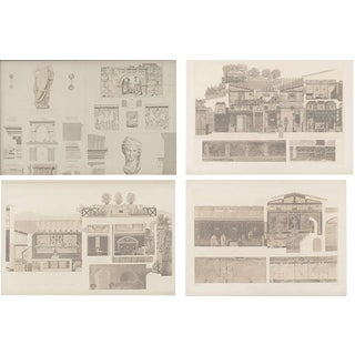 A Set Of 4 Architectural Engravings, Manner Of Piranesi For Sale