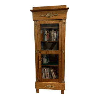 19th Century Antique French Lemon Wood Cabinet For Sale