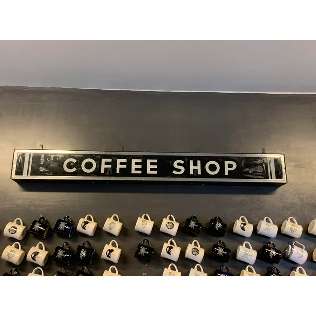 1950's Vintage Illuminating Coffee Shop Sign For Sale In Raleigh - Image 6 of 6