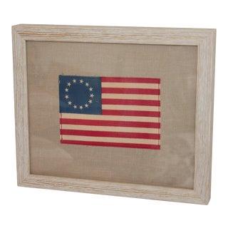 Framed Minaiture 13 Star American Flag For Sale