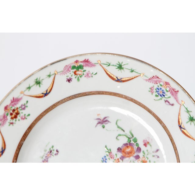 Early 19th Century Chinese Porcelain Plates Set of Six For Sale - Image 10 of 13