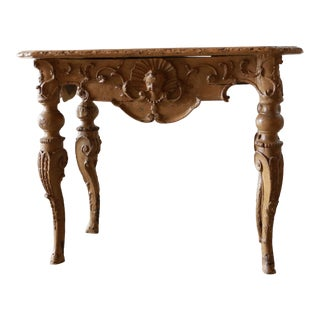 Louis XIV Ochre Console For Sale