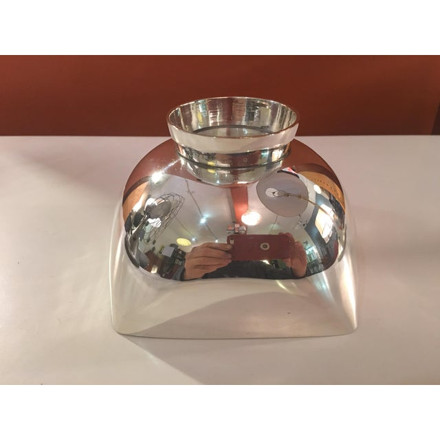 Metal Ward Bennett Silverplate Bowl For Sale - Image 7 of 12