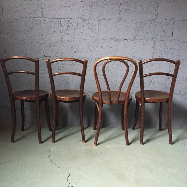 Thonet Bentwood Cafe Chairs - Set of 4 - Image 5 of 11