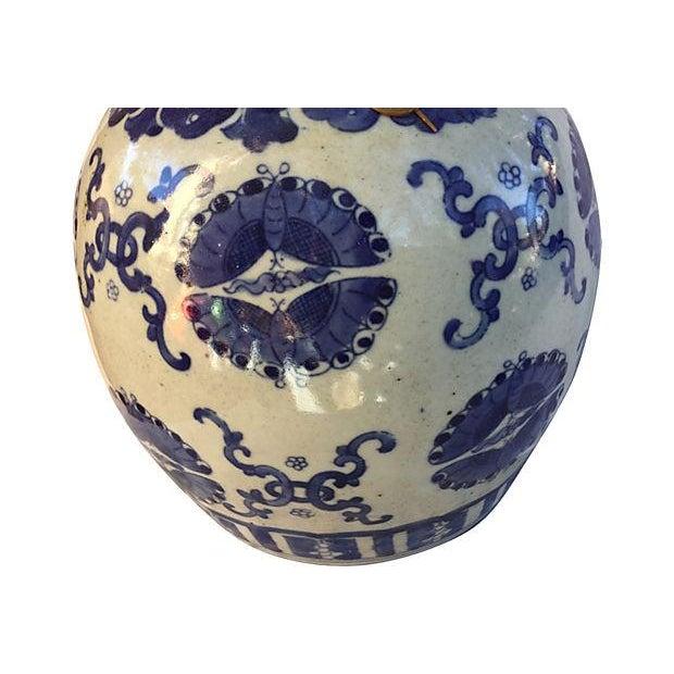 Blue & White Butterflies Ginger Jar - Image 4 of 5