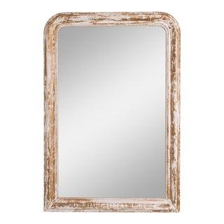 Napoleon III White Patinated Mirror For Sale