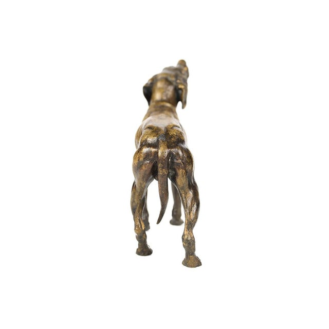 19th Century Bronze Hunting Dog Sculpture - Image 8 of 9