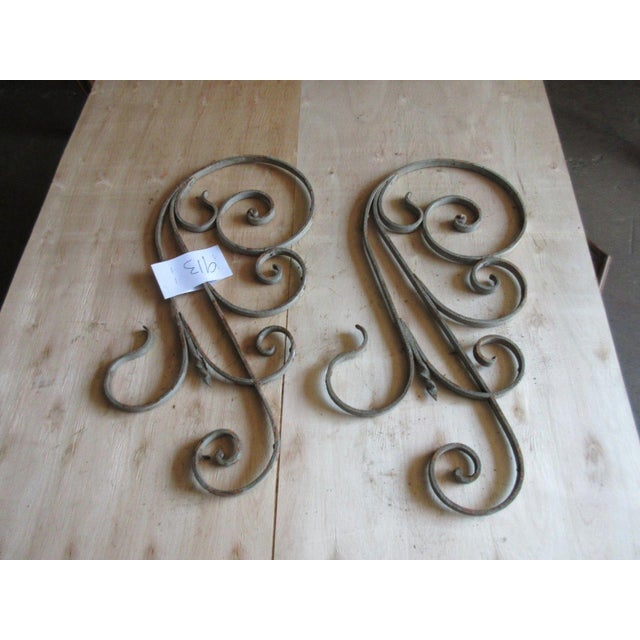 Mid-Century Modern Antique Victorian Iron Gate Architectural Salvage For Sale - Image 3 of 5
