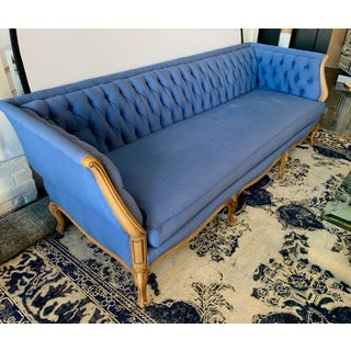 Mid Century Blue Tufted Chesterfield Sofa Preview