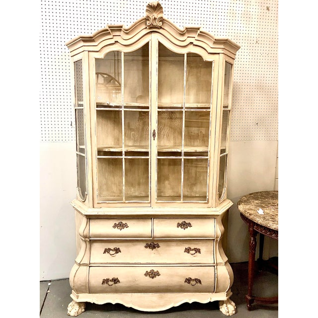White 19th Century Painted Dutch Bombé Cabinet For Sale - Image 8 of 8