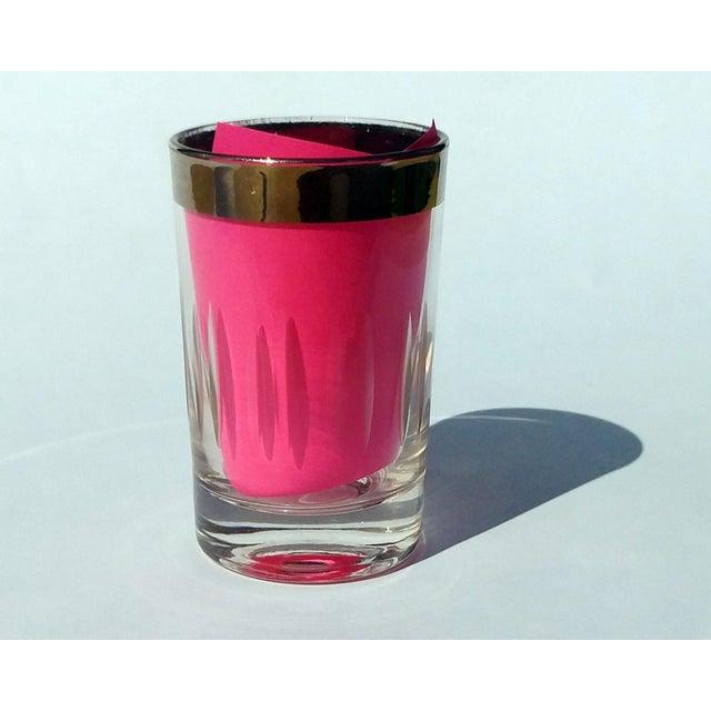 Silver-Rim Cut-Crystal Shot Glasses - A Pair - Image 6 of 6