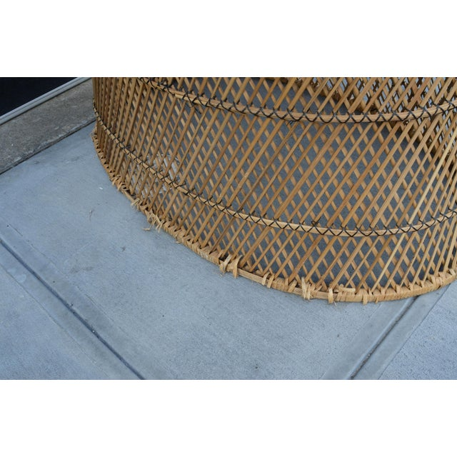 Brown Vintage Woven Wicker Freestanding Bassinet For Sale - Image 8 of 9