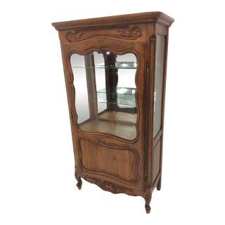 Louis XV Style Walnut Display Cabinet/Vitrine For Sale