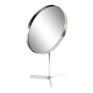 1960s Chrome Adjustable Table Mirror For Sale