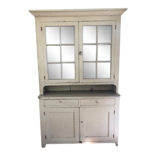 19th Century Early American Painted Cabinet For Sale