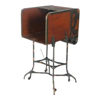 Toledo Early 1900s American Industrial Roll Top Desk/Table