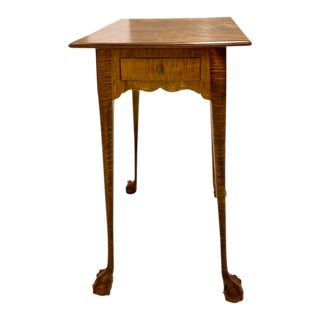 Arts and Crafts Birdseye Maple Side Table For Sale