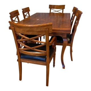 Country Baker Furniture Milling Road Maple Dining Set - 7 Pieces For Sale