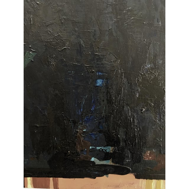 """Vintage """"142"""" Abstract Panting by Paul Rinaldi For Sale - Image 4 of 5"""