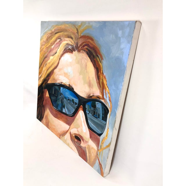 Contemporary 2004 Original Portrait ''City Streets'' Oil on Canvas Painting Signed Susan Lawrence For Sale - Image 3 of 8