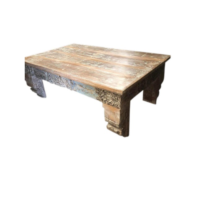 Antique Chai Teak Wood Coffee Table For Sale In Miami - Image 6 of 9