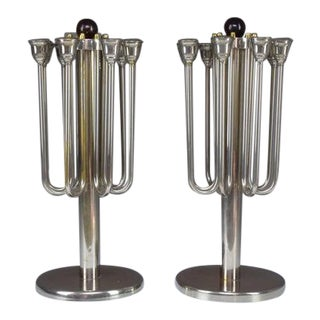 Pair of French Art Deco Candleholders, 1930s For Sale