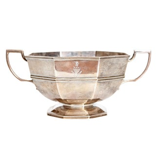 Amorial Silver Pedestal Bowl / Cup by C. C. Pilling for Tiffany & Co. For Sale
