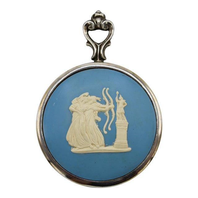 Jasperware Sterling Silver Wedgewood Purse Mirror For Sale