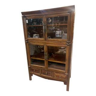 1990s Chinese Cabinet with Four Drawers and Three Cabinets For Sale