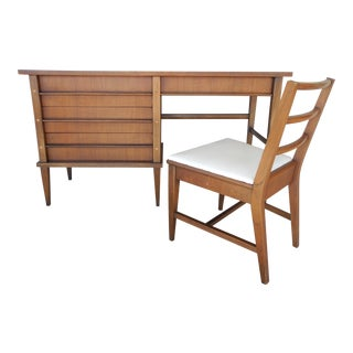 Kent Coffey Simplicite Mid-Century Modern Desk & Chair For Sale