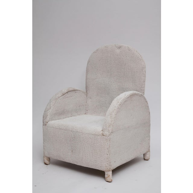 Pair of White Beaded Nigerian Tribal Chairs For Sale - Image 10 of 10