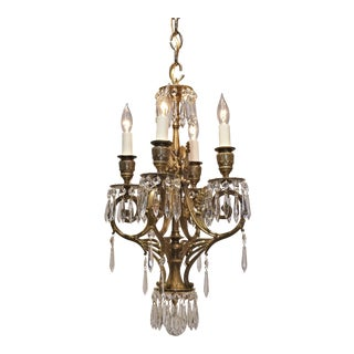 Four-Light Rococo Revival Chandelier, Circa:1880 For Sale