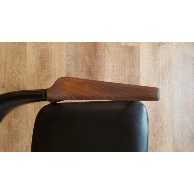 Black Thomas Harlev Model 213 Side Chair in Teak and Black Leatherette for Farstrup Møbler For Sale - Image 8 of 12