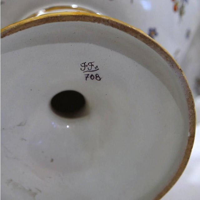 Early 20th Century French Hand-Painted Vase For Sale - Image 9 of 9