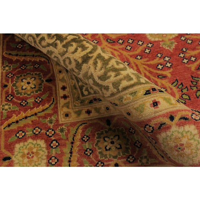 Shabby Chic Istanbul Luke Rust/Gold Turkish Hand-Knotted Rug -4'10 X 5'11 For Sale - Image 4 of 8