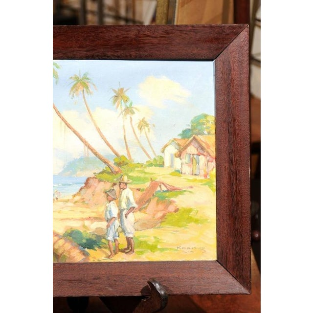 Island Landscape Oil Painting For Sale In Atlanta - Image 6 of 6