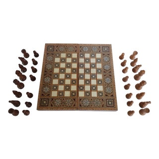Inlaid Syrian Backgammon and Chess Board For Sale