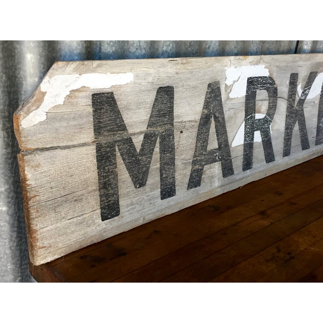 "Reclaimed Weathered Wood ""Marketplace"" Sign - Image 5 of 7"