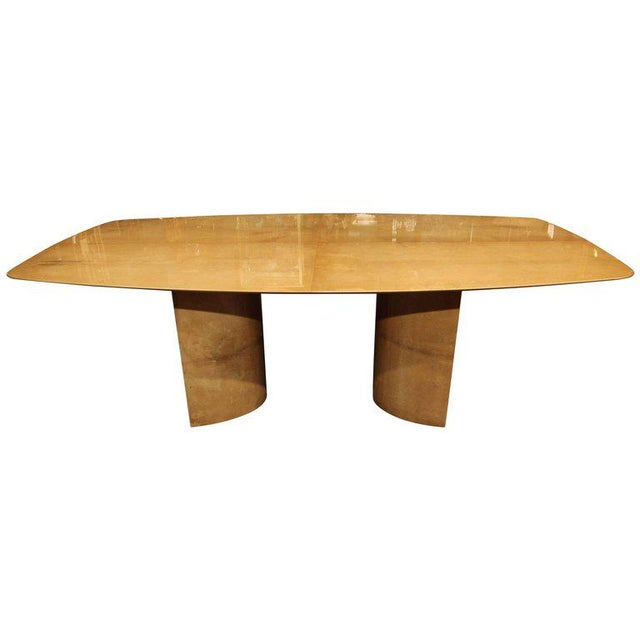 Aldo Tura Lacquered Goatskin Dining Table With Knife-edge Top - Image 11 of 11