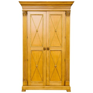 Very Tall e.j. Victor Classical Armoire For Sale