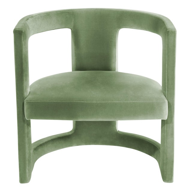 Army Green Covet Paris Rukay Bold Armchair For Sale - Image 8 of 8