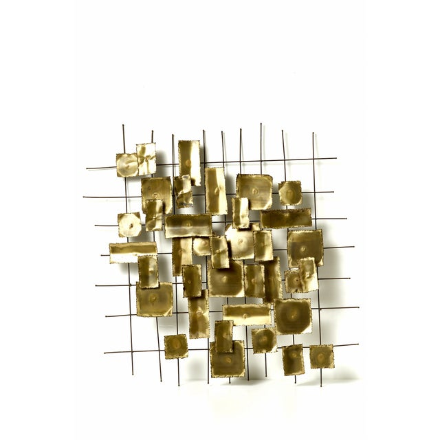 1970's Brass Wall Sculpture - Image 4 of 4